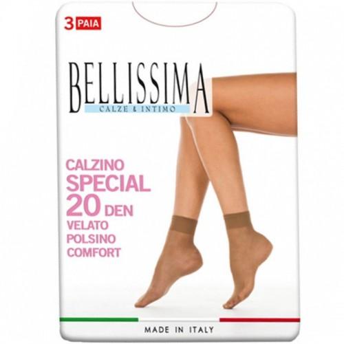 (9paia) Calzini velati 20 den elasticizzati BELLISSIMA