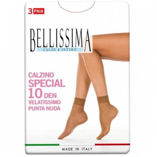 9 Paia calzino BELLISSIMA elasticizzato velato 10 den