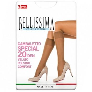 BELLISSIMA conf. 3 gambaletto elasticizzato velato 20 den