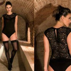 MARTA MARZOTTO body in viscosa e pizzo art. D17i31157