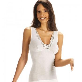 Vajolet canotta donna spalla larga misto lana forma seno art. SL6449