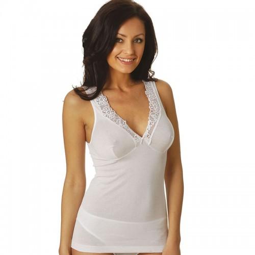 Vajolet canotta donna spalla larga filo scozia con forma del seno art.SL5068