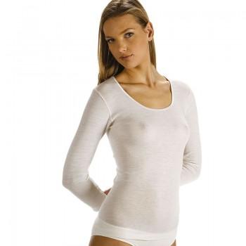 Maglia in misto lana VAJOLET donna manica lunga semplice art. ML 5943