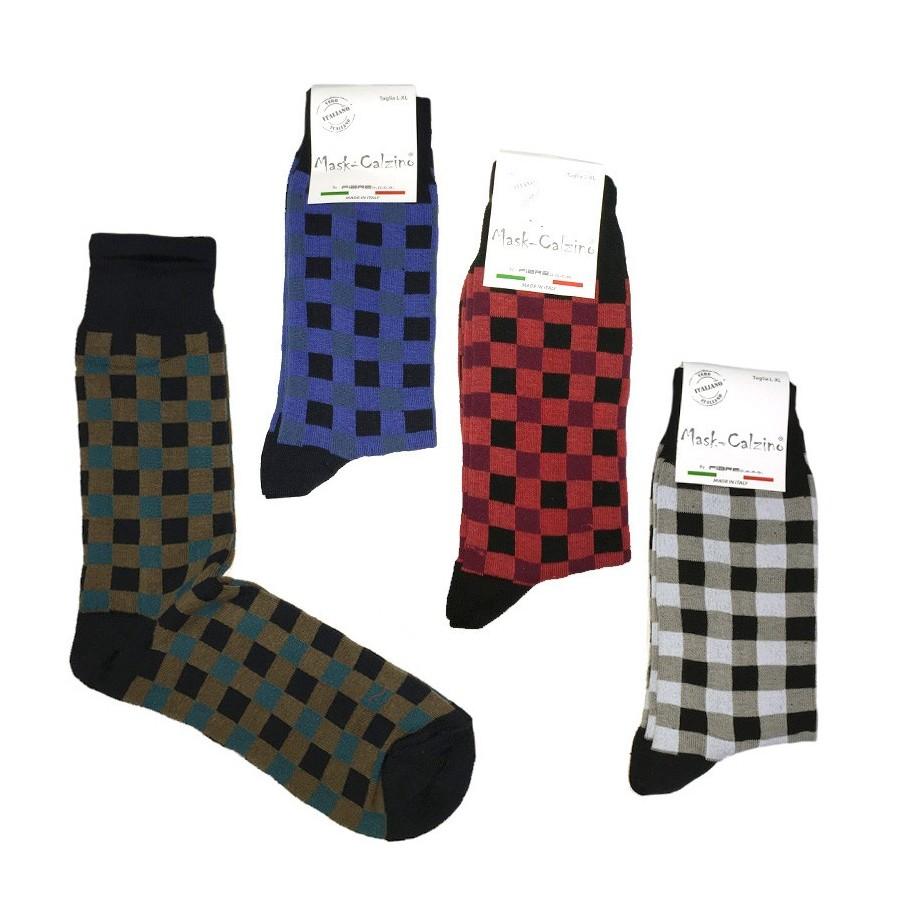MASK-CALZINO set 4 paia calze cotone caldo corte uomo DAMA