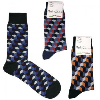 MASK-CALZINO set 3 paia calze cotone caldo corte uomo PRISMA