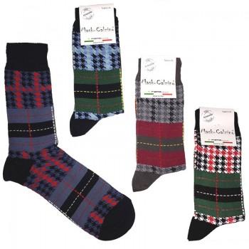 MASK-CALZINO set 4 paia calze cotone caldo corte uomo MIX PIED