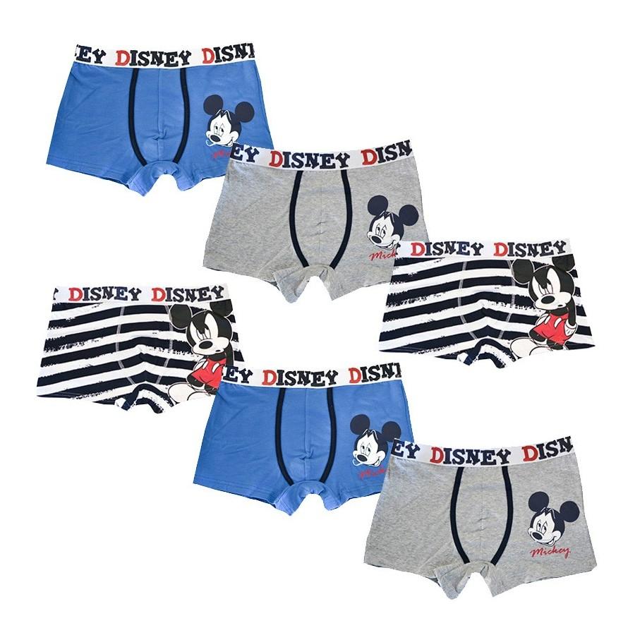 DISNEY set 6 boxer cotone elasticizzato uomo art. 39067