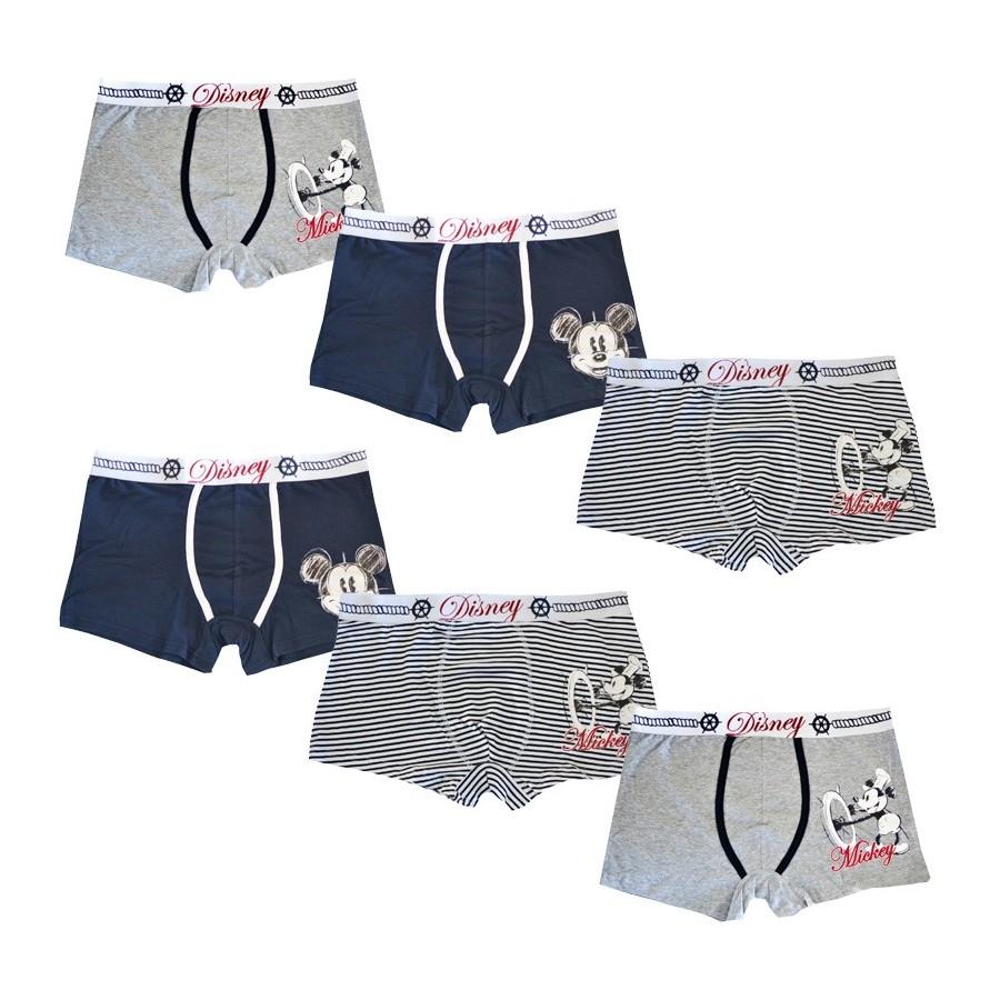 DISNEY set 6 boxer cotone elasticizzato uomo art. 39068