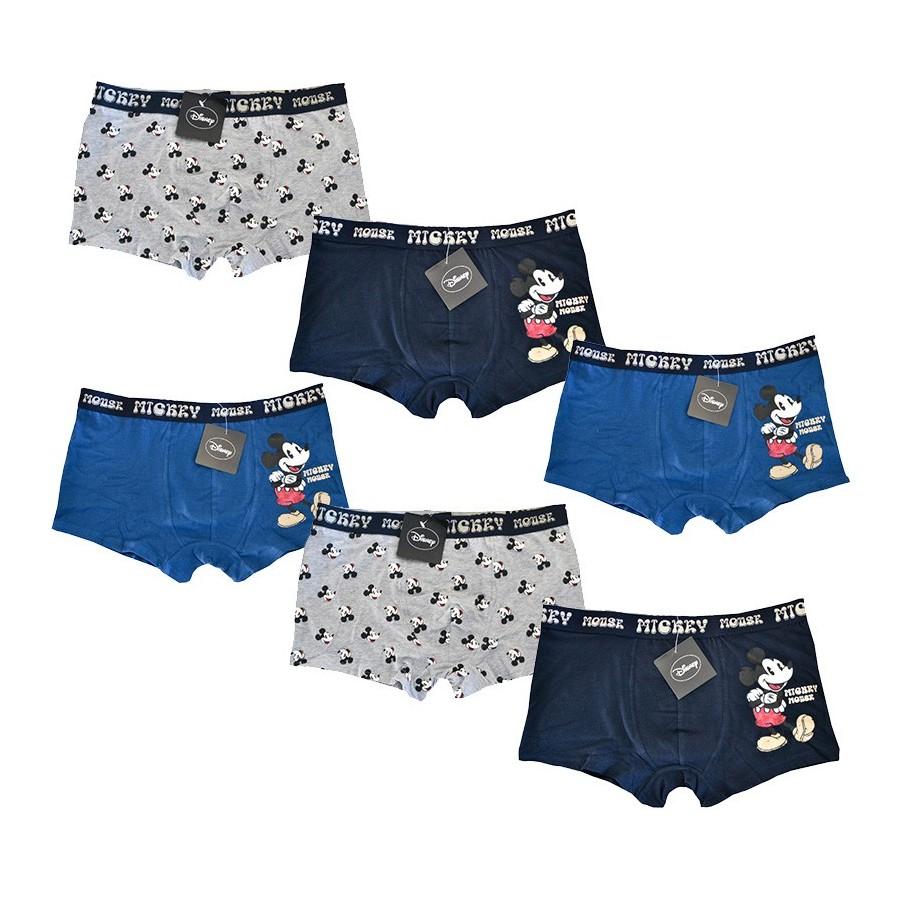 DISNEY set 6 boxer cotone elasticizzato uomo art. 39069