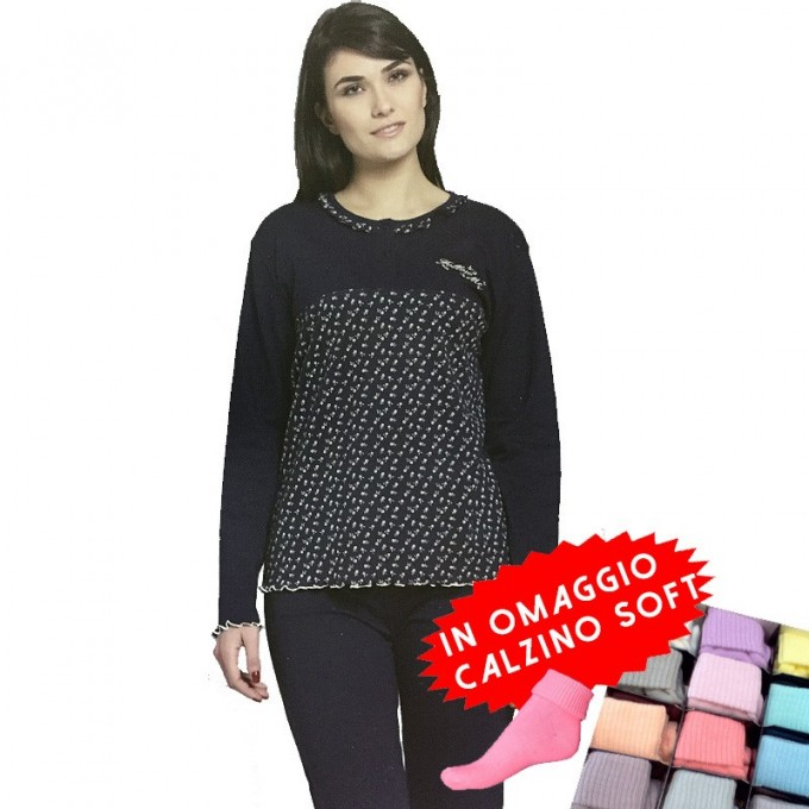CIPPI pigiama donna cotone interlock art. 2778