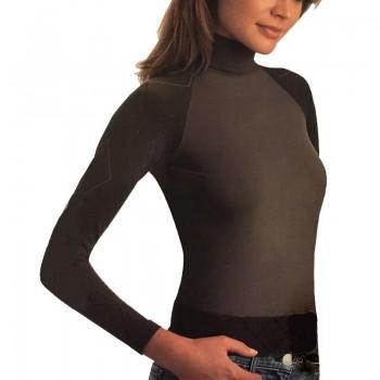 INTIMIDEA maglia donna manica lunga dolcevita art. Losanga