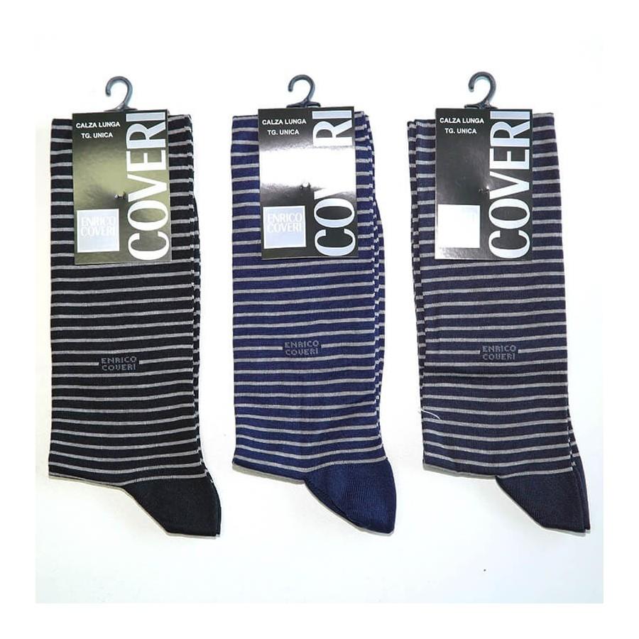 ENRICO COVERI conf.3 calza cotone elasticizzato uomo lungo art. SUMMER 84