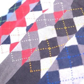 CVF conf.6 calza cotone caldo lunga uomo disegno rombo