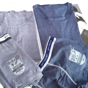 PRIMAL coordinato in cotone bielastico T-shirt+boxer art.CB107