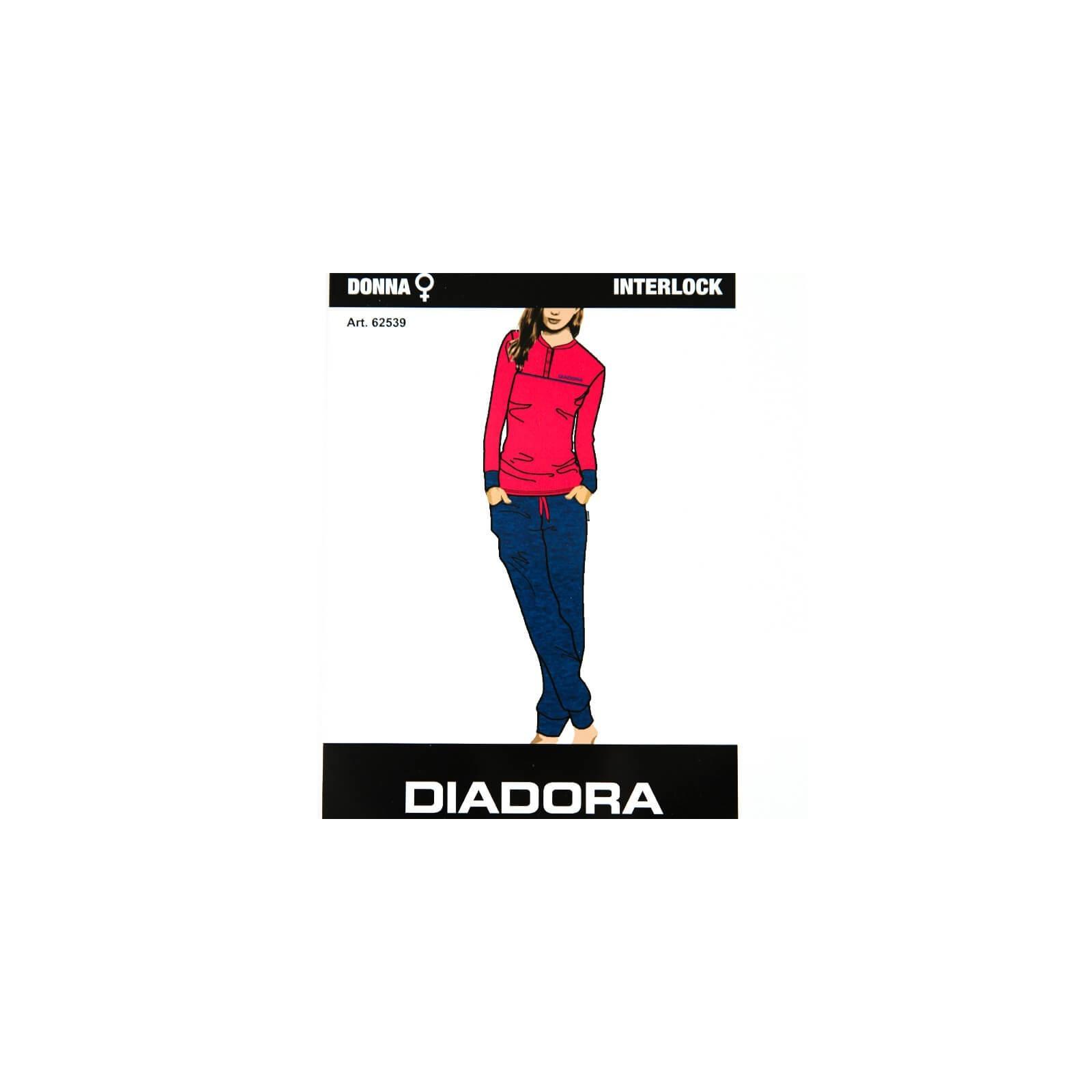 0e20733d7949 DIADORA pigiama donna interlock art. 62539 - LADY C