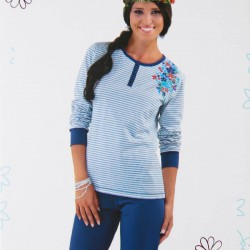 IN-UP pigiama in cotone donna art. PG22549