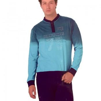 Pigiama in cotone jersey NOTTINGHAM lungo uomo art. PG21731