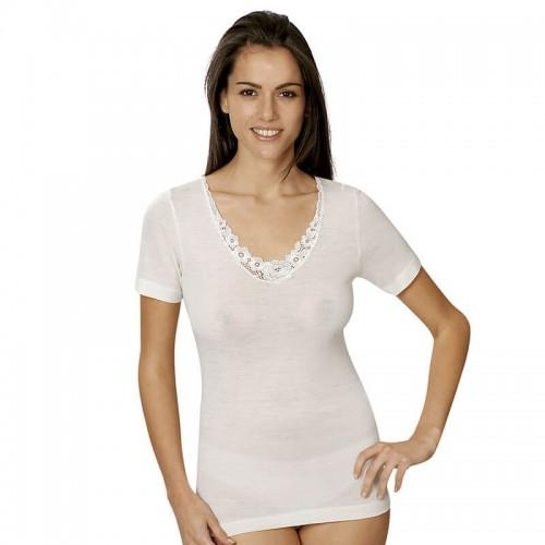 VAJOLET maglia donna misto lana manica corta art.MM6453
