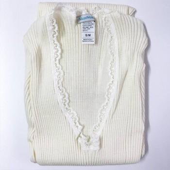 Maglia lana e microfibra plissé EGI donna manica lunga art. 307