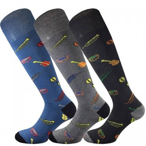 3 Paia calze cotone caldo MASK-CALZINO lunghe uomo STRUMENTI