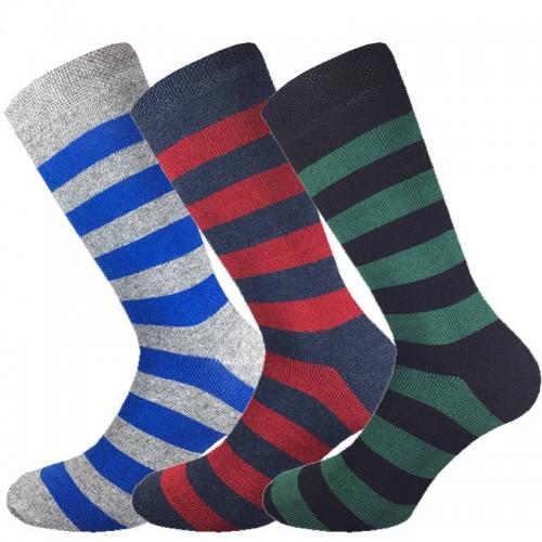 3 Paia calze cotone caldo MASK-CALZINO corte uomo riga