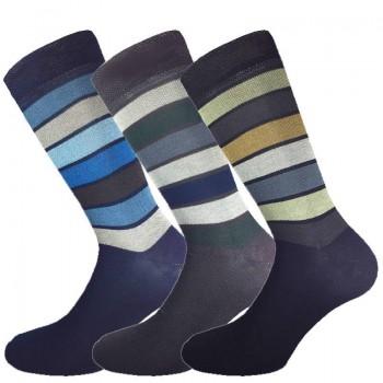 3 Paia calze cotone elasticizzato MASK-CALZINO corte uomo riga