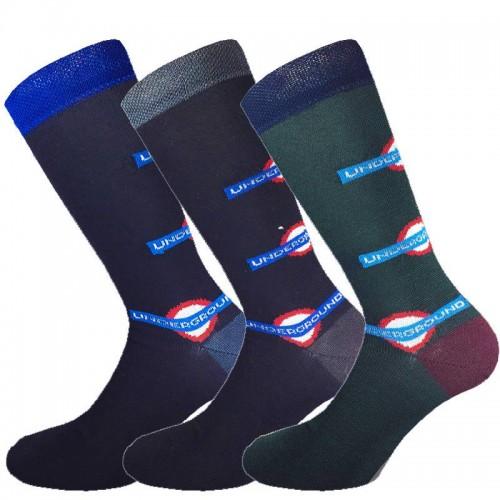 3 Paia calze corte in cotone elasticizzato uomo MASK-CALZINO metrò