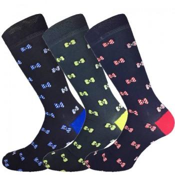 3 Paia calze corte in cotone elasticizzato uomo MASK-CALZINO fiocco