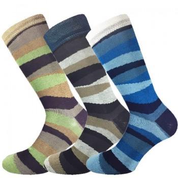 3 Paia calze cotone elasticizzato MASK-CALZINO corte uomo bande
