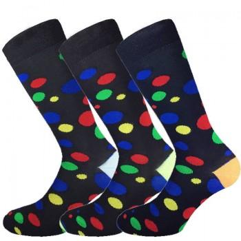 3 Paia calze cotone elasticizzato MASK-CALZINO corte uomo pois