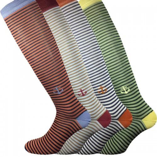4 Paia calze cotone elasticizzato MASK-CALZINO lunghe uomo ANCORA