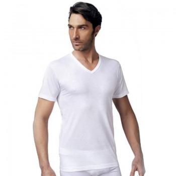 3 T-shirt NOTTINGHAM in puro cotone uomo collo a V art. T41VC