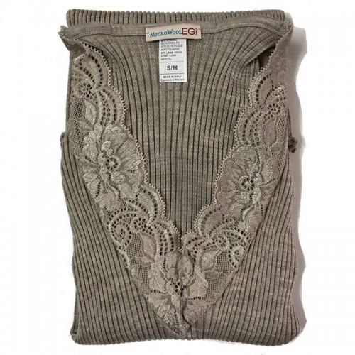 Maglia lana e microfibra donna EGI manica lunga art. 303