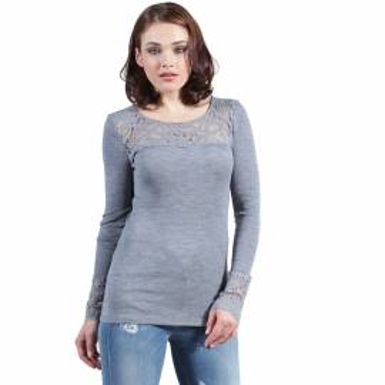 Maglia lana e microfibra donna EGI sottogiacca manica lunga