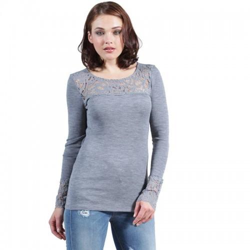 Maglia lana e microfibra donna EGI manica lunga art. 5076
