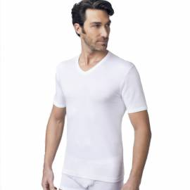NOTTINGHAM T-shirt cotone interlock uomo scollo V art. TV110