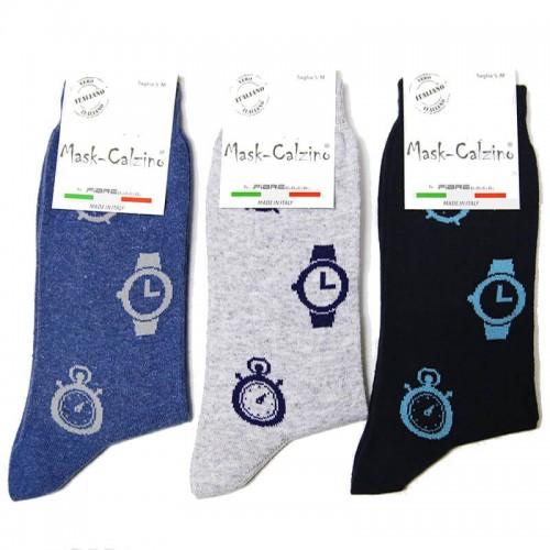 MASK-CALZINO conf.3 paia calza cotone caldo corta unisex Orologi