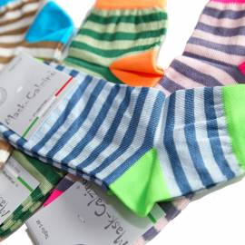 4 Paia calzini in cotone MASK-CALZINO donna fantasia righe