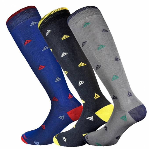 3 Paia calze in cotone filo di scozia uomo lunghe fantasia Vela
