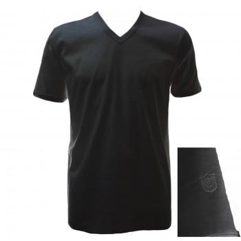 """T-shirt in filo di scozia GICIPI uomo scollo a """"V"""" art. 261"""