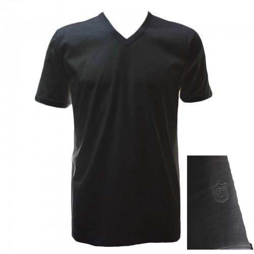 """T-shirt in filo di scozia GICIPI uomo scollo a """"V"""" art. 261 (3pz)"""