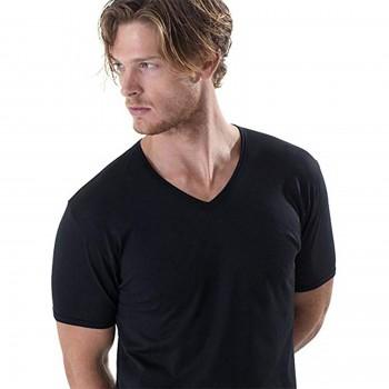 T-shirt in filo di scozia GICIPI girocollo basso uomo art. 261