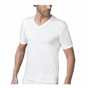 (3pz) T-shirt in lana e cotone collo a V NOTTINGHAM TV18