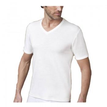 NOTTINGHAM T-shirt lana/cotone manica corta uomo art. TV18