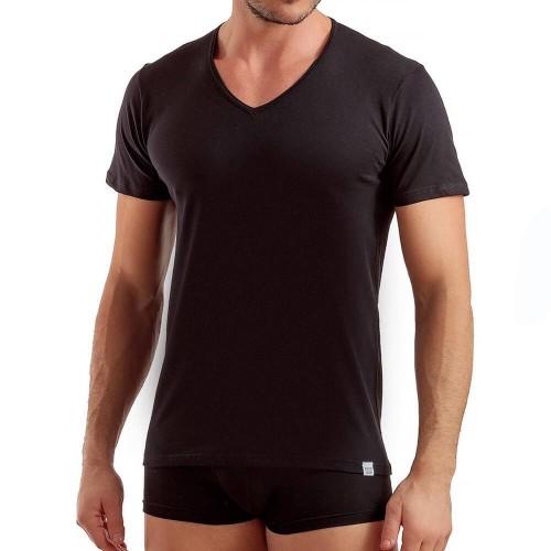 """T-Shirt in puro cotone calibrata ENRICO COVERI collo """"V"""" art. ET1101"""