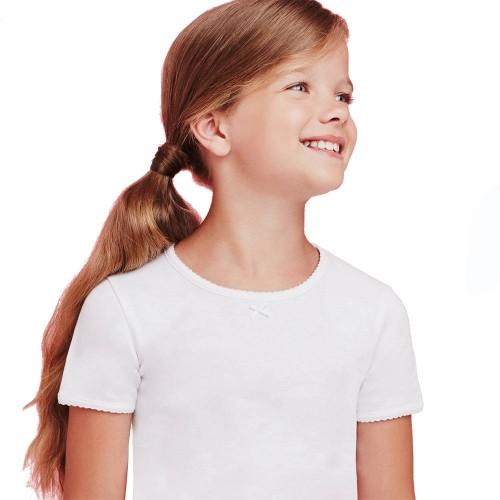 (3pz) T-shirt invernale in cotone caldo bimba ELLEPI
