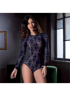 Body in pizzo LOVE AND BRA manica lunga tulle art. 21751