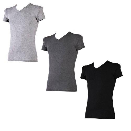 T-shirt NOTTINGHAM in cotone bielastico collo a V art. FOX (3pz)