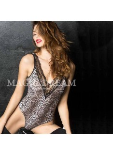 Body chic animalier con pizzo MAGIC DREAM art. 7752