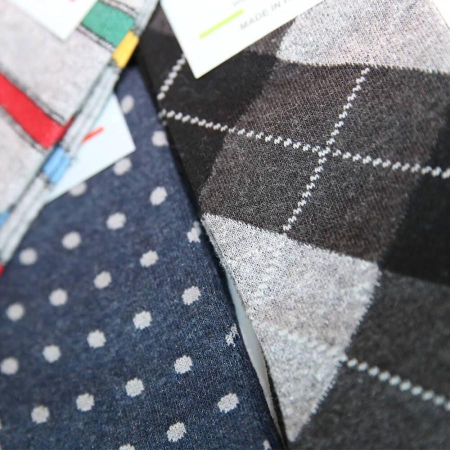MASK-CALZINO conf.3 calza cotone caldo corta fantasie diverse